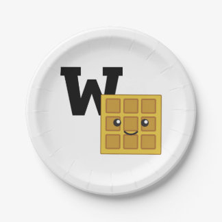 W is for Waffle Paper Plate