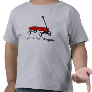 W is for Wagon Learn to Spell T-shirt
