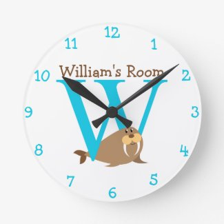W is for Walrus and William-Child's Bedroom