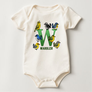 W is for Warbler Baby Bodysuit