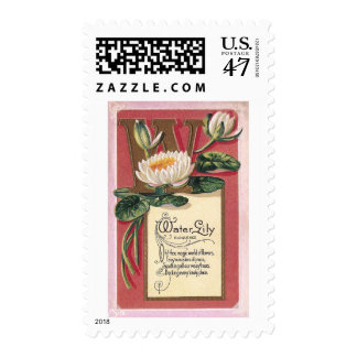 W is for Water Lily Postage