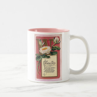 W is for Water Lily Two-Tone Coffee Mug