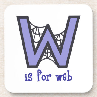 W Is For Web Beverage Coasters