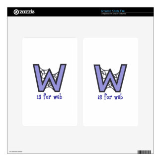 W Is For Web Kindle Fire Skin