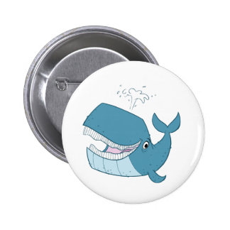 W is for Whale 2 Inch Round Button
