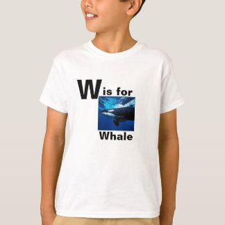 """""""W IS FOR WHALE"""" T-SHIRT WITH PHOTO OF A WHALE"""