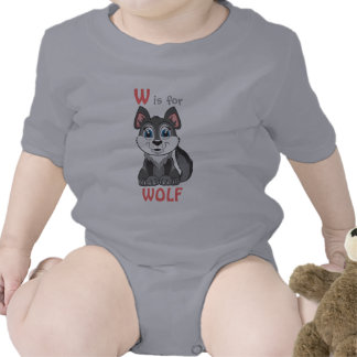 """""""W is for WOLF"""" Childs Shirt"""