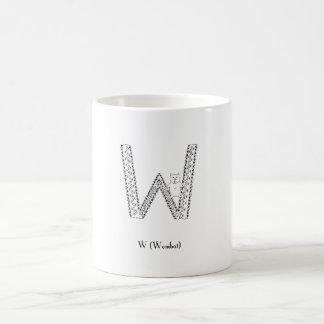 W is for wombat coffee mug