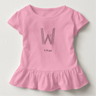 W is for wombat toddler t-shirt
