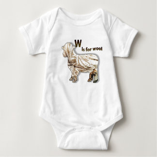 W is for Wool Baby Bodysuit