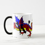 W is for Wyvern 11 Oz Magic Heat Color-Changing Coffee Mug