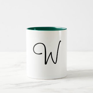 W Letter Mug