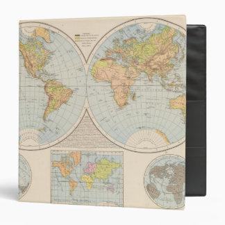 """W, mapa del mundo de E Halbkugel Carpeta 1 1/2"""""""
