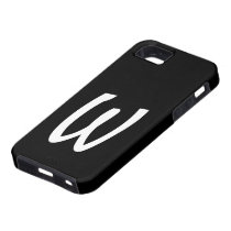W Monogram Black IPhone 5 Case