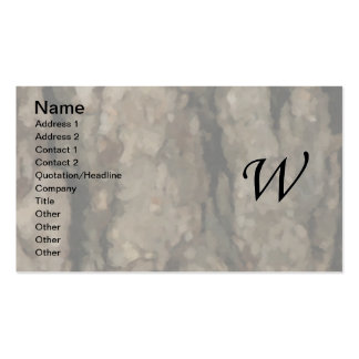 W Monogram Dark Bark1 Painterly Business Card