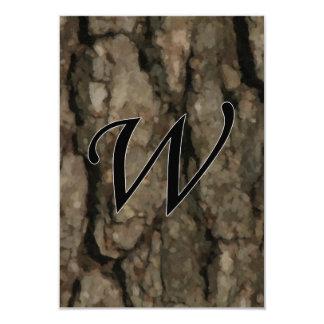 W Monogram Dark Bark1 Painterly Card