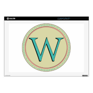 W MONOGRAM LETTER DECALS FOR LAPTOPS