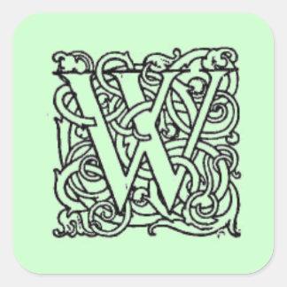 W Monogram Sticker