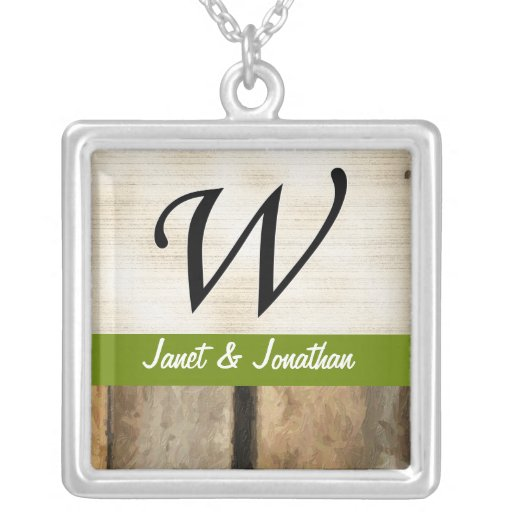 W Monogram vertical boards Impasto Personalized Necklace