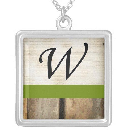 W Monogram vertical boards Impasto Necklaces