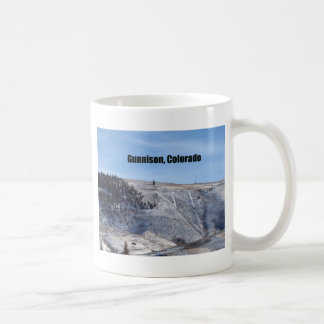 """W"" Mountain, Gunnison, Colorado Classic White Coffee Mug"