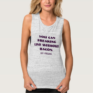 W/out Bacon Women's Bella+Canvas Muscle Tank Top