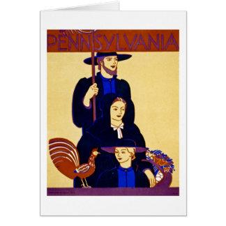 W.P.A. Vintage del poster del viaje de Tarjeta De Felicitación