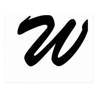 W para el ganador postal