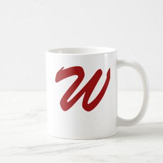 W para el ganador tazas de café