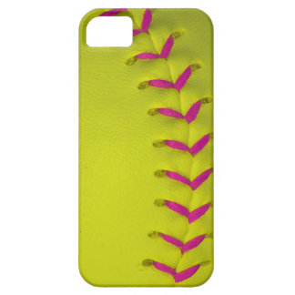 w/Pink amarillo cose béisbol/softball iPhone 5 Protectores