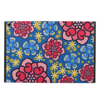 W/pink azul, rojo, y caja del aire del iPad de las