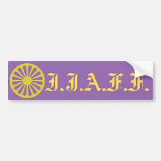 W.R. Purple IJAFF bumper sticker