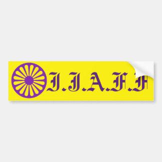 W.R. Yellow IJAFF bumper sticker