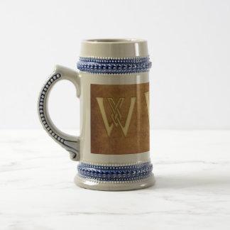W- Regalo Nombre-Calificado monograma Stein Tazas De Café