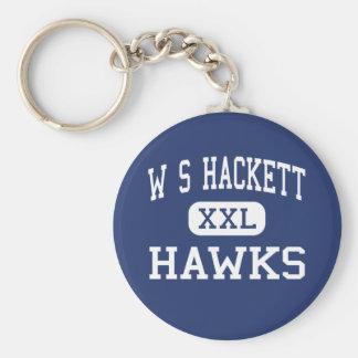 W S Hackett Hawks Middle Albany New York Basic Round Button Keychain