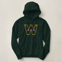 """W"" Southwest Alphabet Embroidered Hoodie"