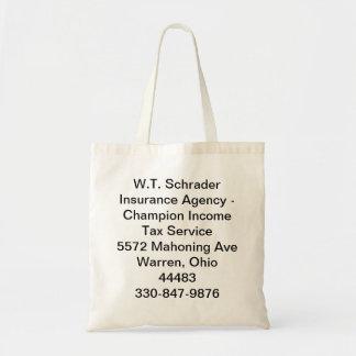 W.T. Agencia del seguro de Schrader Bolsa Tela Barata