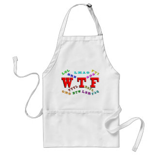 W T F and Computer Slang Adult Apron