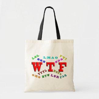 W T F and Computer Slang Tote Bag