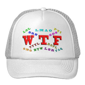 W T F and Computer Slang Hat