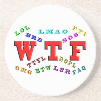 W T F y argot del ordenador Posavasos Manualidades