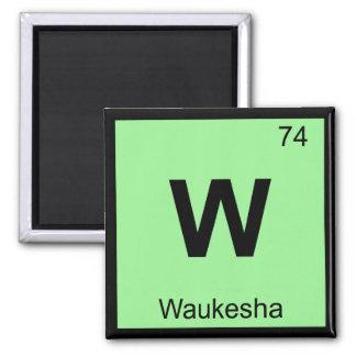 W - Tabla periódica de la química de Waukesha Wisc Iman Para Frigorífico