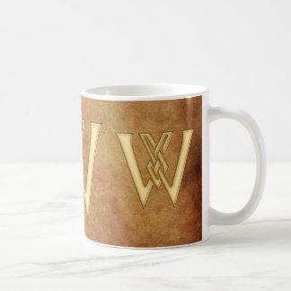 W- Taza Nombre-Calificada monograma del regalo