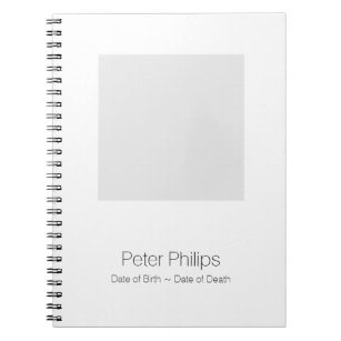 photo funeral guest book notebooks journals zazzle