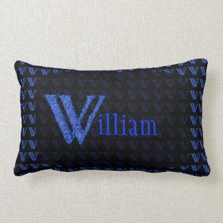 W - The Falck Alphabet (Blue) Pillows