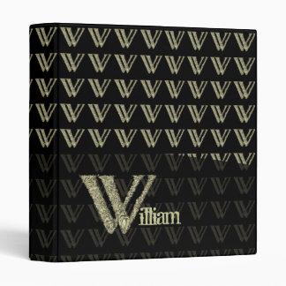 W - The Falck Alphabet Golden Vinyl Binder