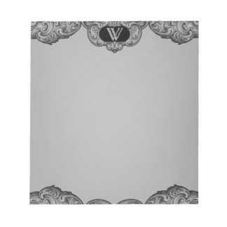W - The Falck Alphabet (Silvery) Note Pad