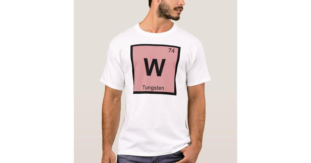 W tungsten chemistry periodic table symbol t shirt zazzle urtaz Gallery