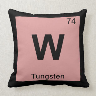 Chemistry periodic table elements symbol pillows decorative w tungsten chemistry periodic table symbol throw pillow urtaz Images