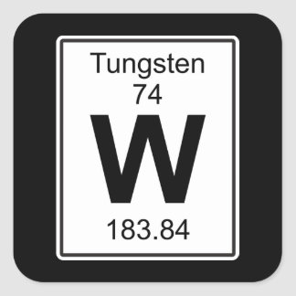 W - Tungsten Square Sticker